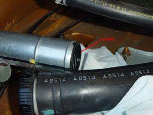 Réparation du clapet anti-retour