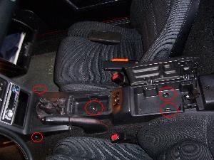 Démontage de la console centrale Pour la Mx5 NA