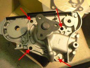 Changement de la pompe à  eau